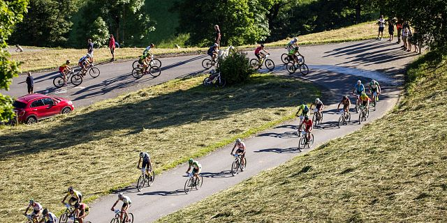 Bergsprint der Mountainbiker